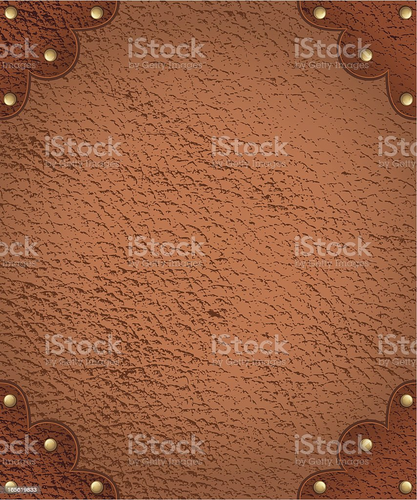 Antique Leather Border royalty-free stock vector art
