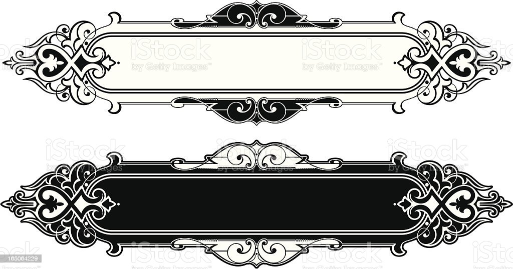 Antique Lettering Panel royalty-free stock vector art