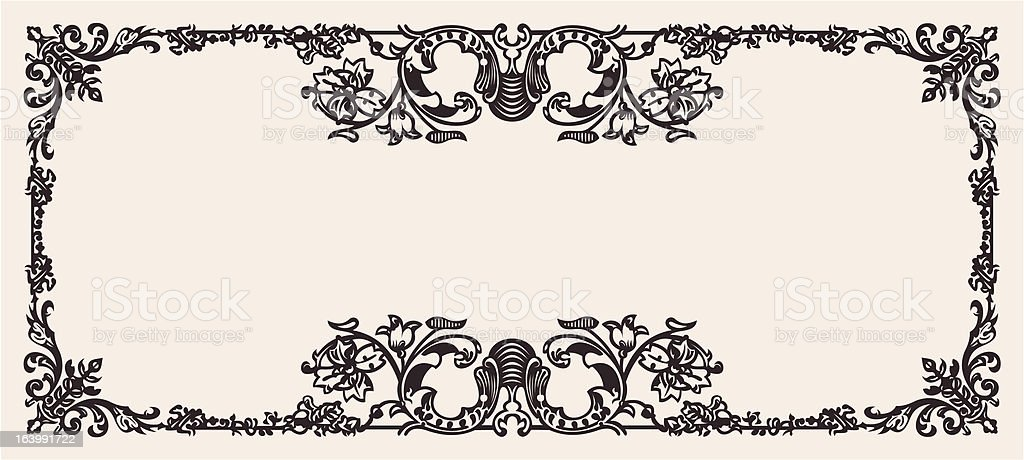 Antique Ornate Frame Scalable And Editable Vector Illustration royalty-free stock vector art