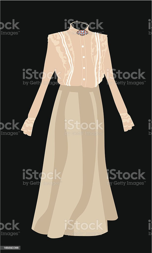 Antique Outfit royalty-free stock vector art