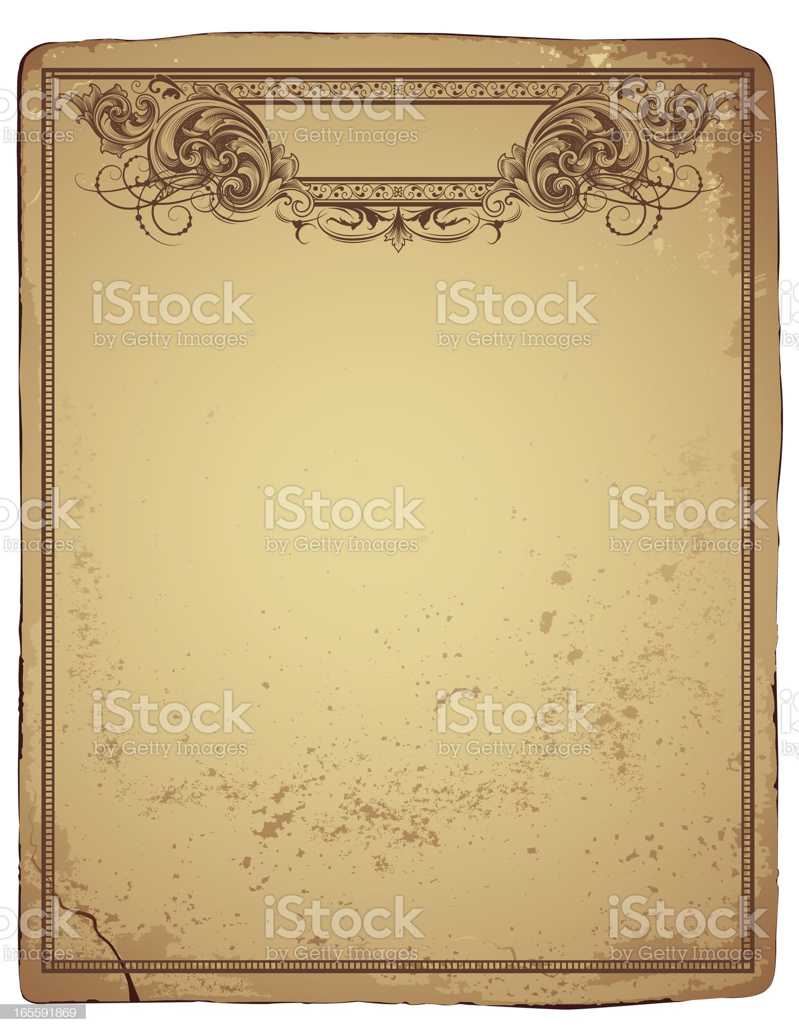 Antique Page Header royalty-free stock vector art
