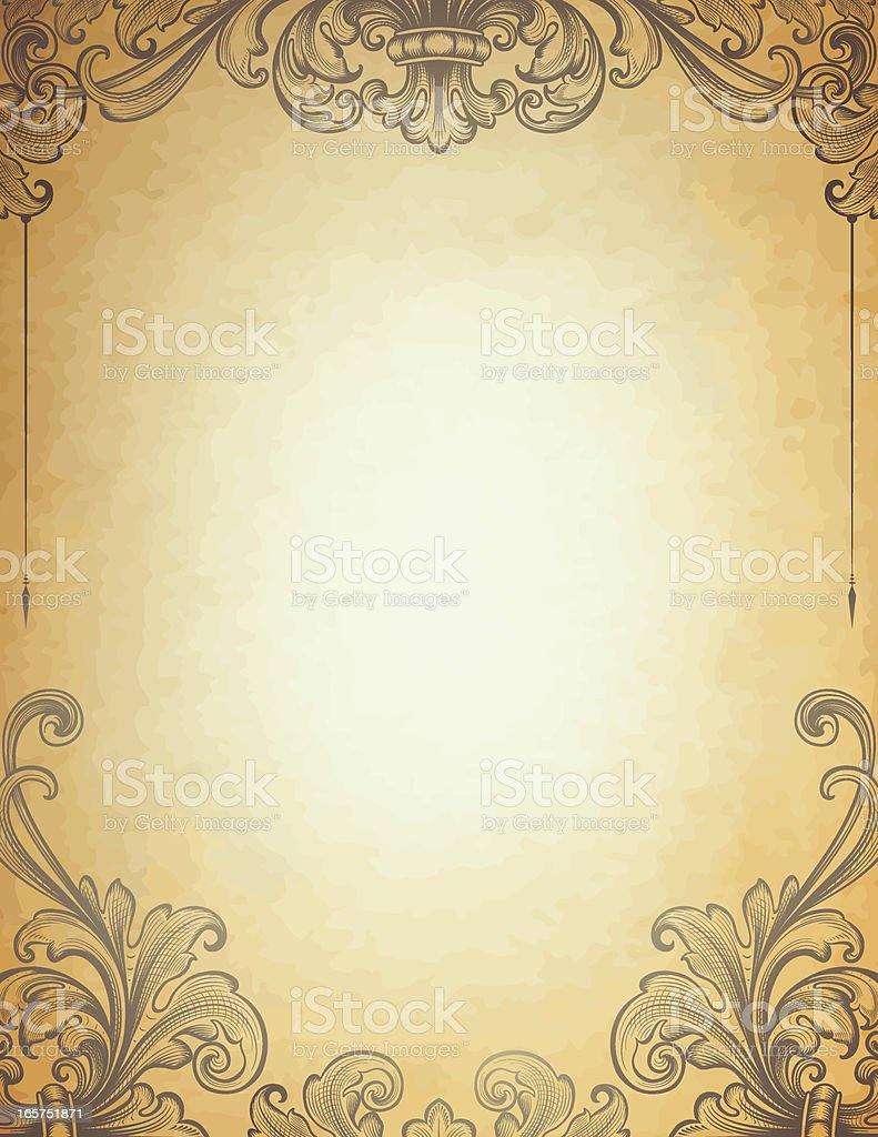 Antique Parchment Border royalty-free stock vector art