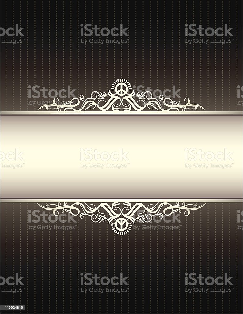 Antique Peace Frame royalty-free stock vector art