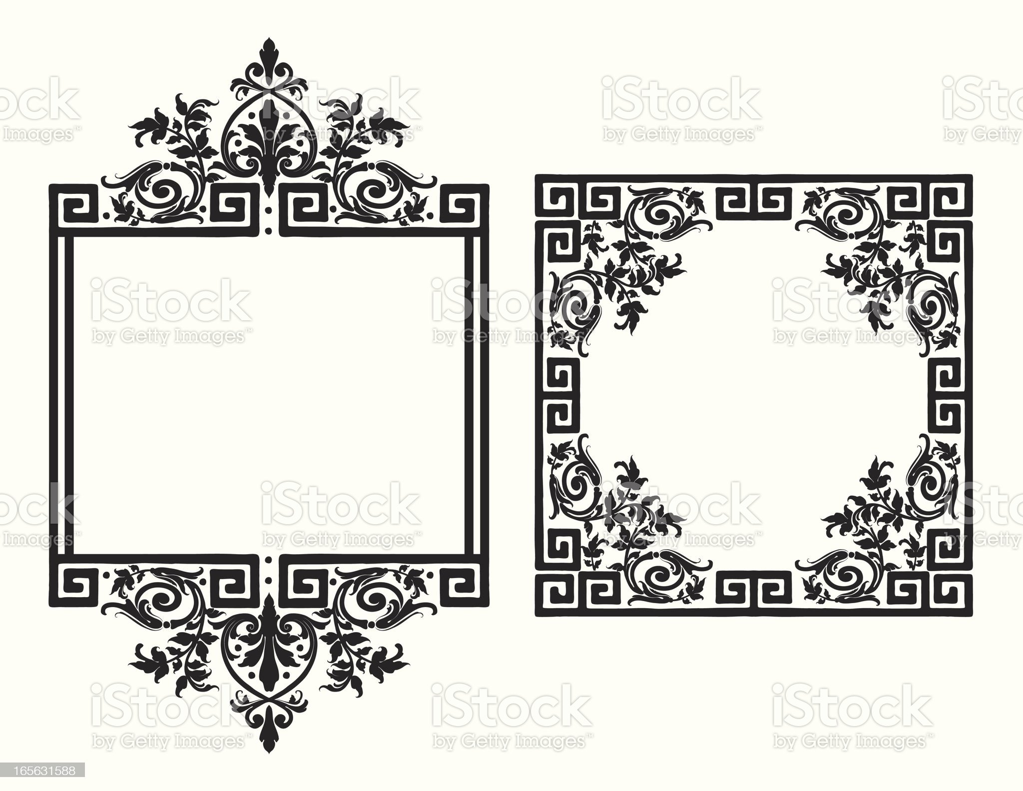 Antique Scroll Frames royalty-free stock vector art