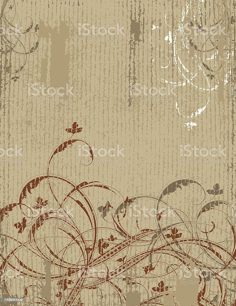 Antique Scroll Grunge vector art illustration