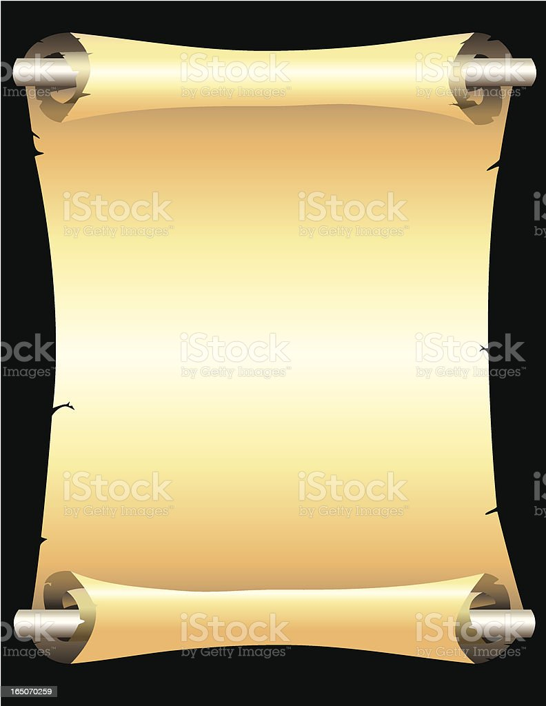 Antique Scroll royalty-free stock vector art