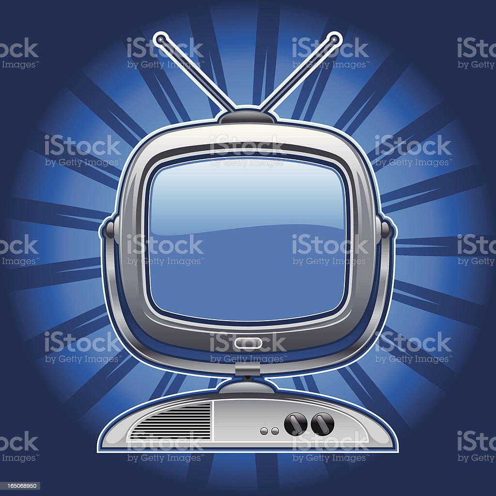 antique television III royalty-free stock vector art