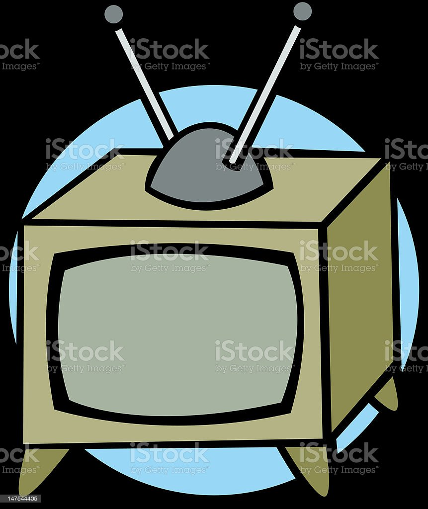 antique television royalty-free stock vector art