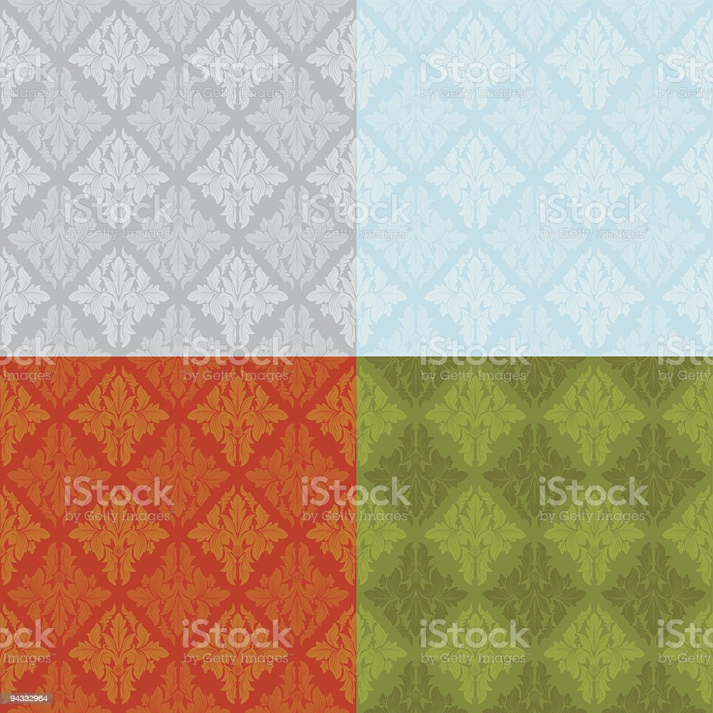 Antique Wallpapers (seamless) royalty-free stock vector art