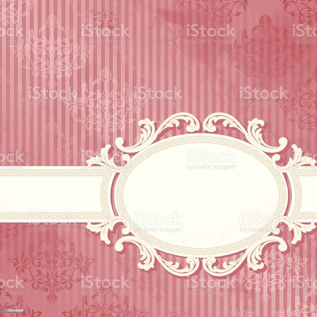 Antique white wedding banner royalty-free stock vector art