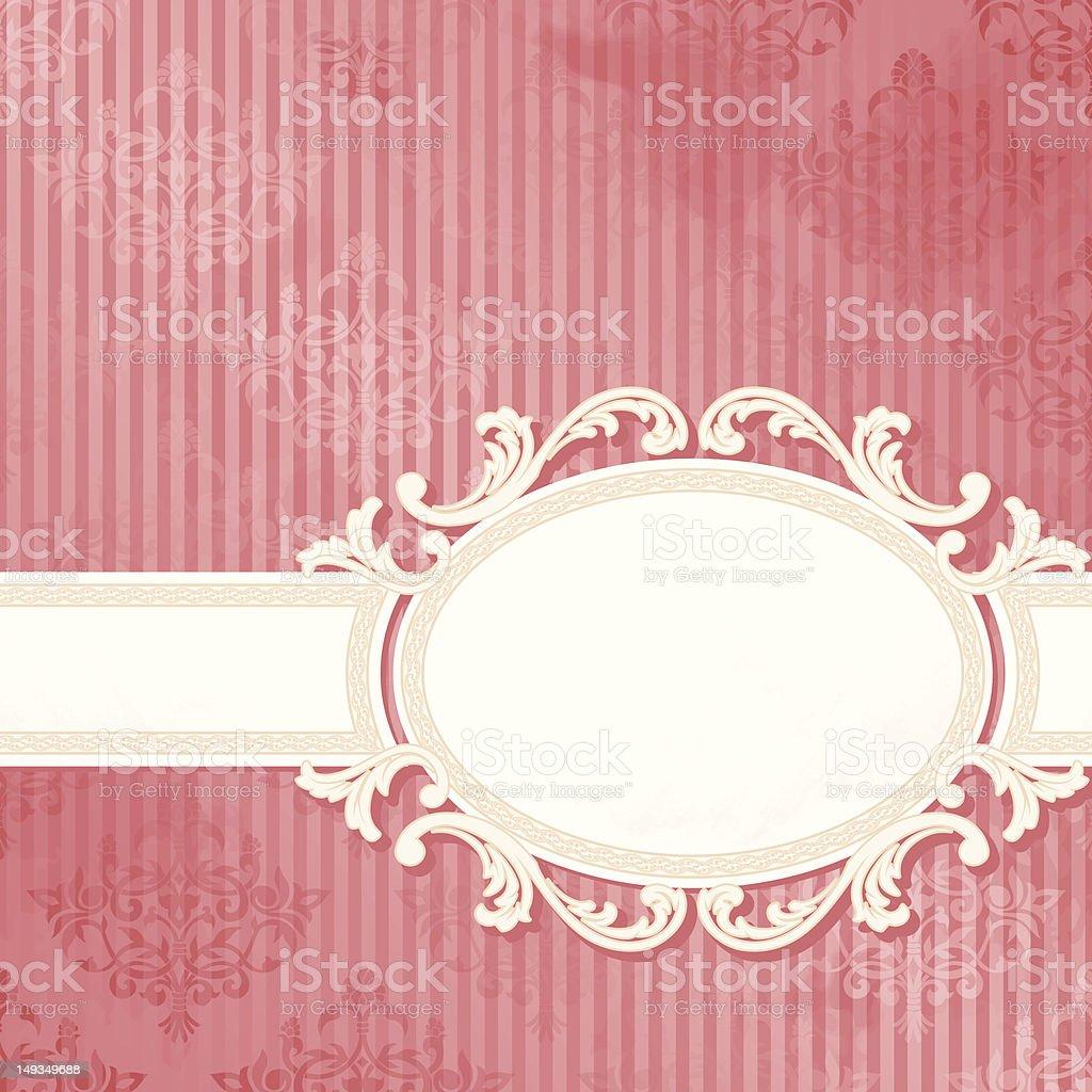 Antique white wedding banner vector art illustration