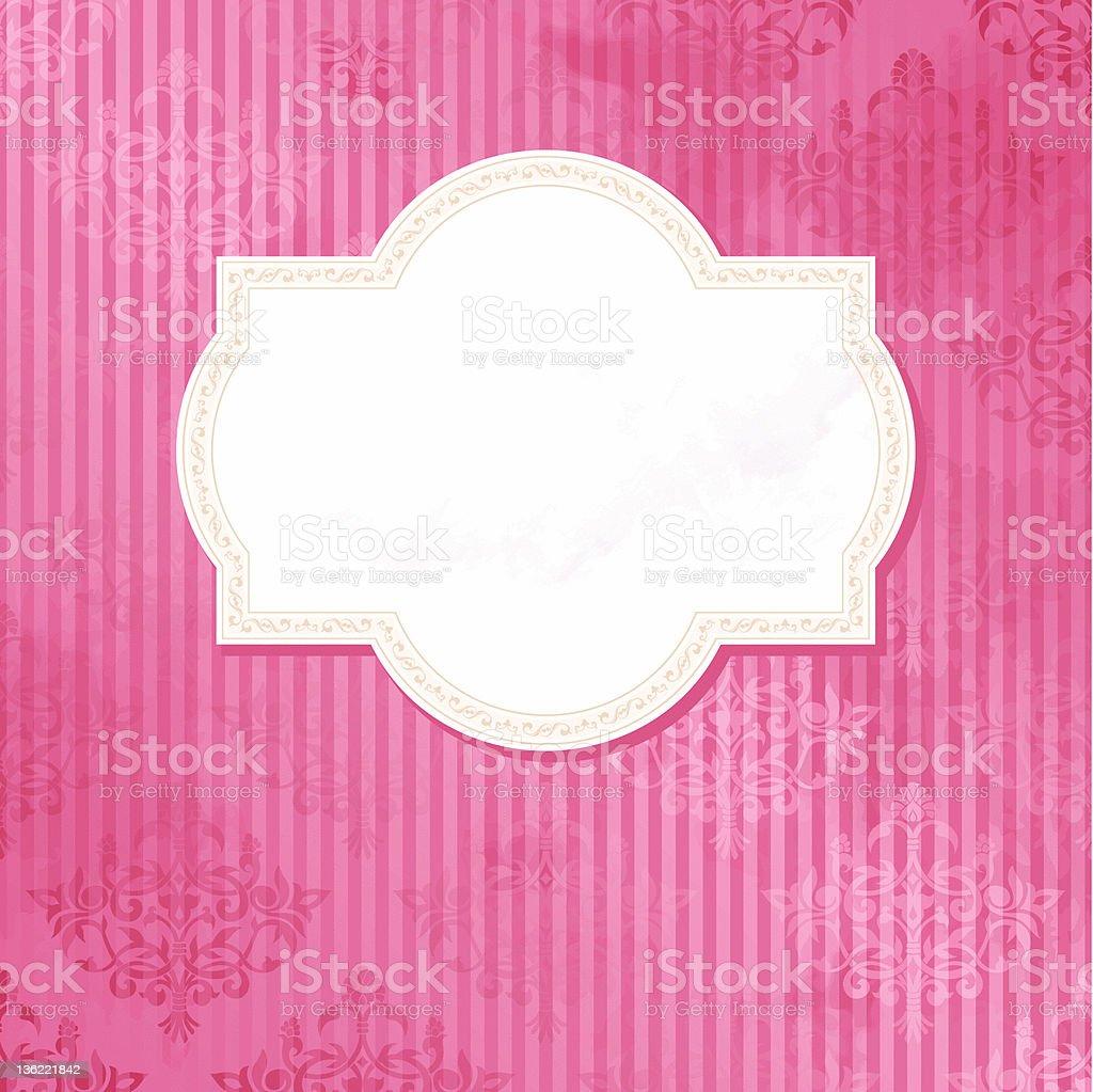 Antique white wedding label royalty-free stock vector art