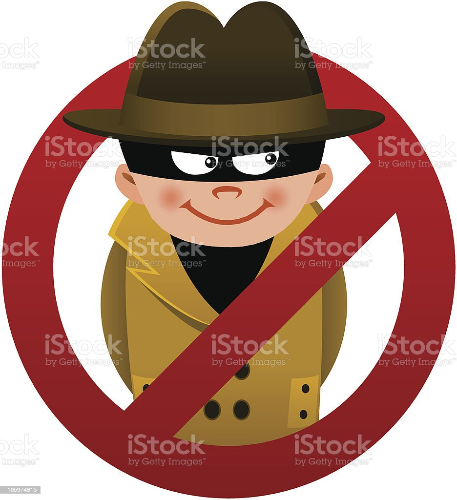 Anti-Spy royalty-free stock vector art
