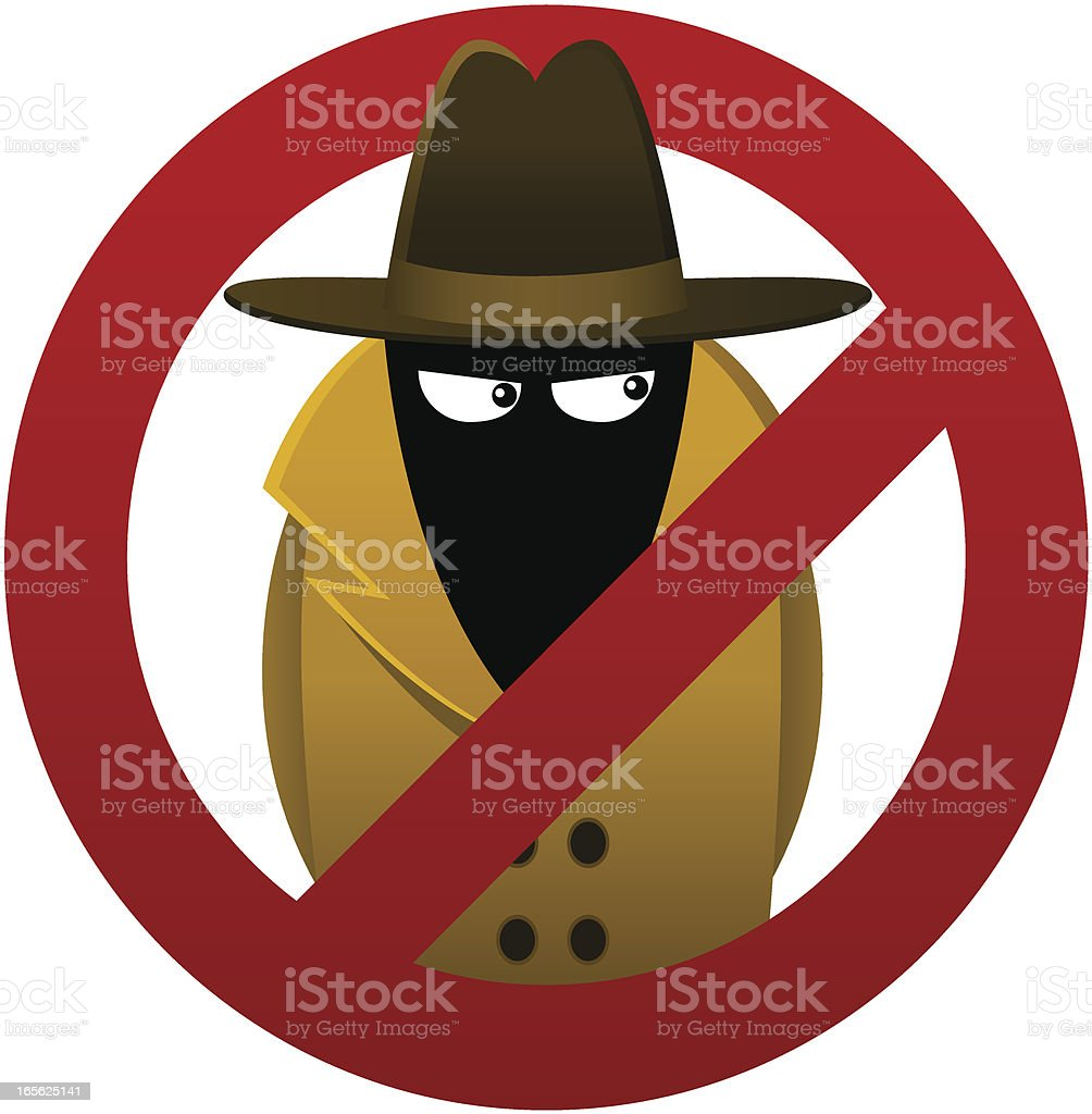 Anti-Spyware Symbol royalty-free stock vector art