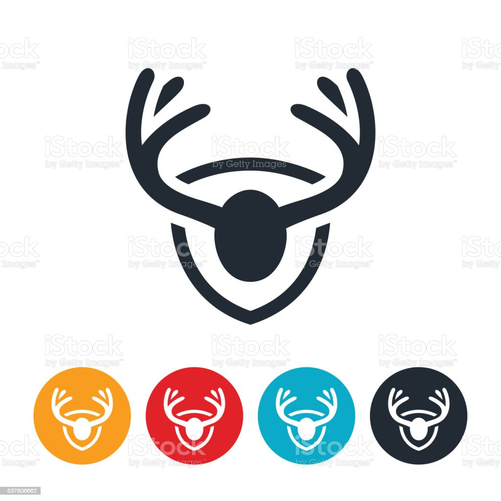 Antler Mount Icon vector art illustration
