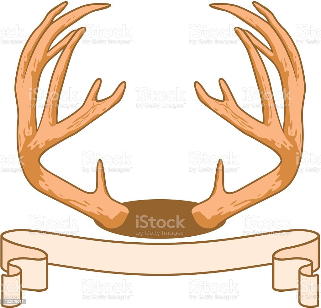 Antlers and Banner royalty-free stock vector art