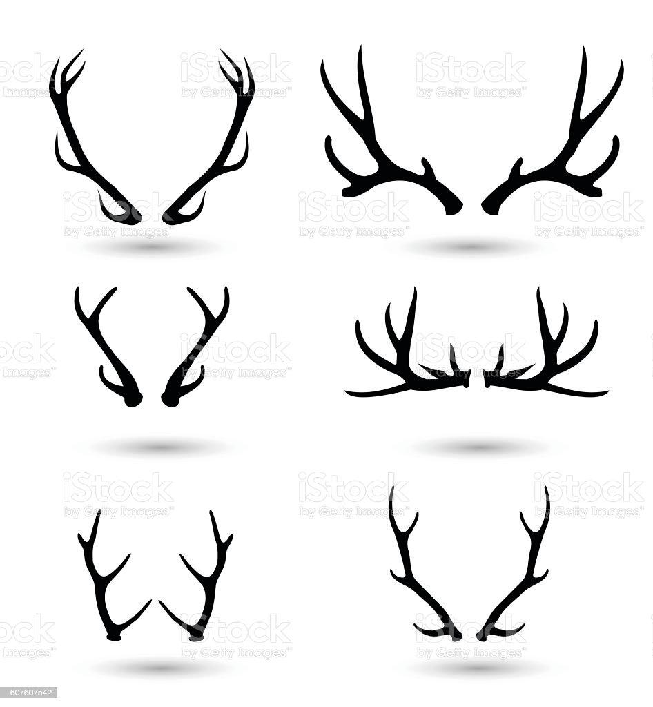 Antlers set vector illustration vector art illustration