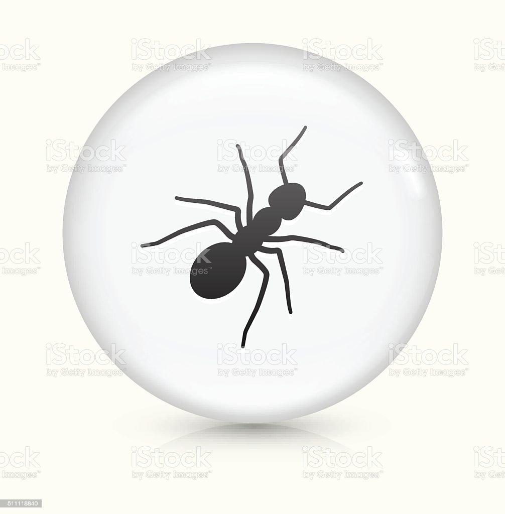 Ants icon on white round vector button vector art illustration