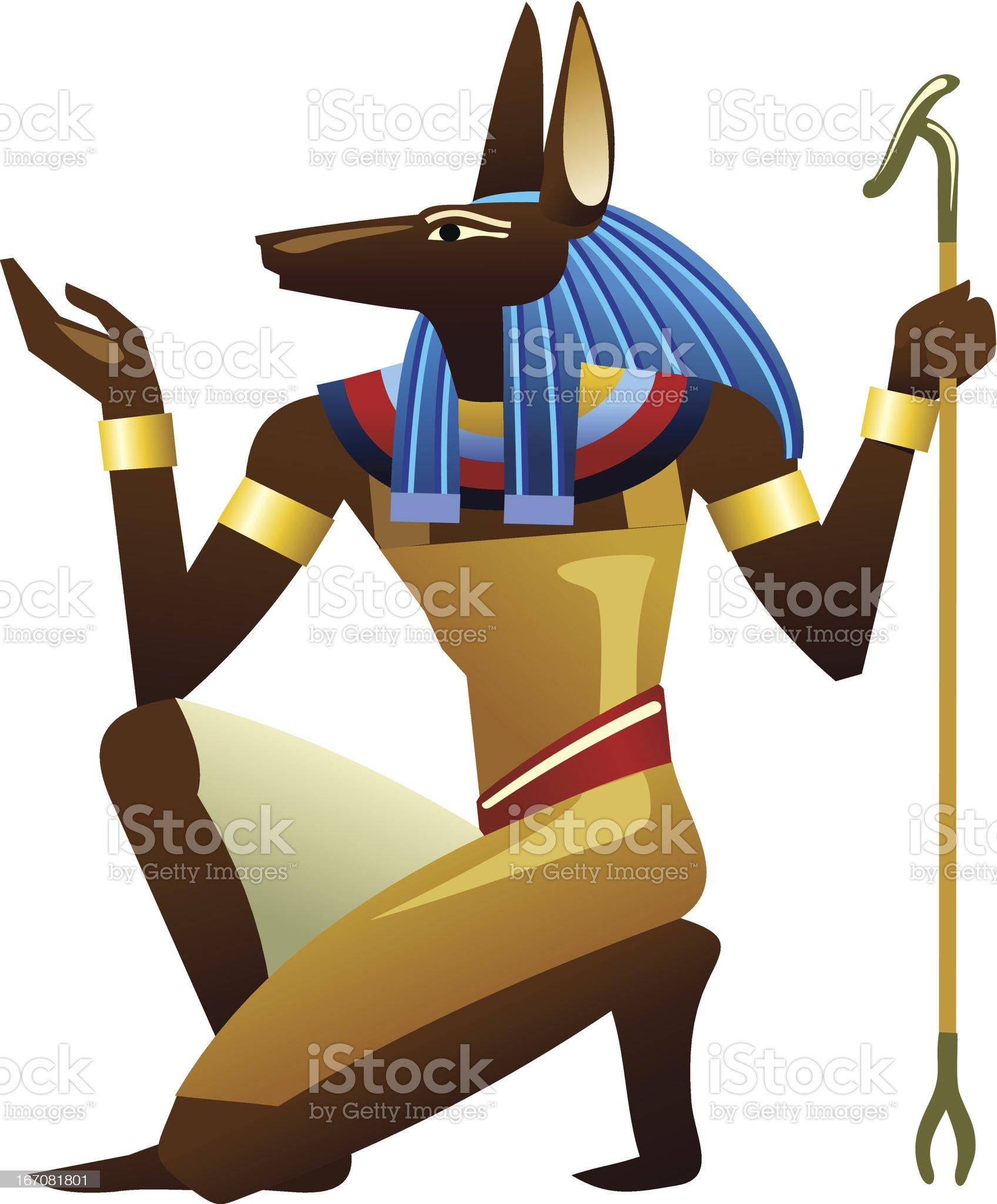 Anubis royalty-free stock vector art