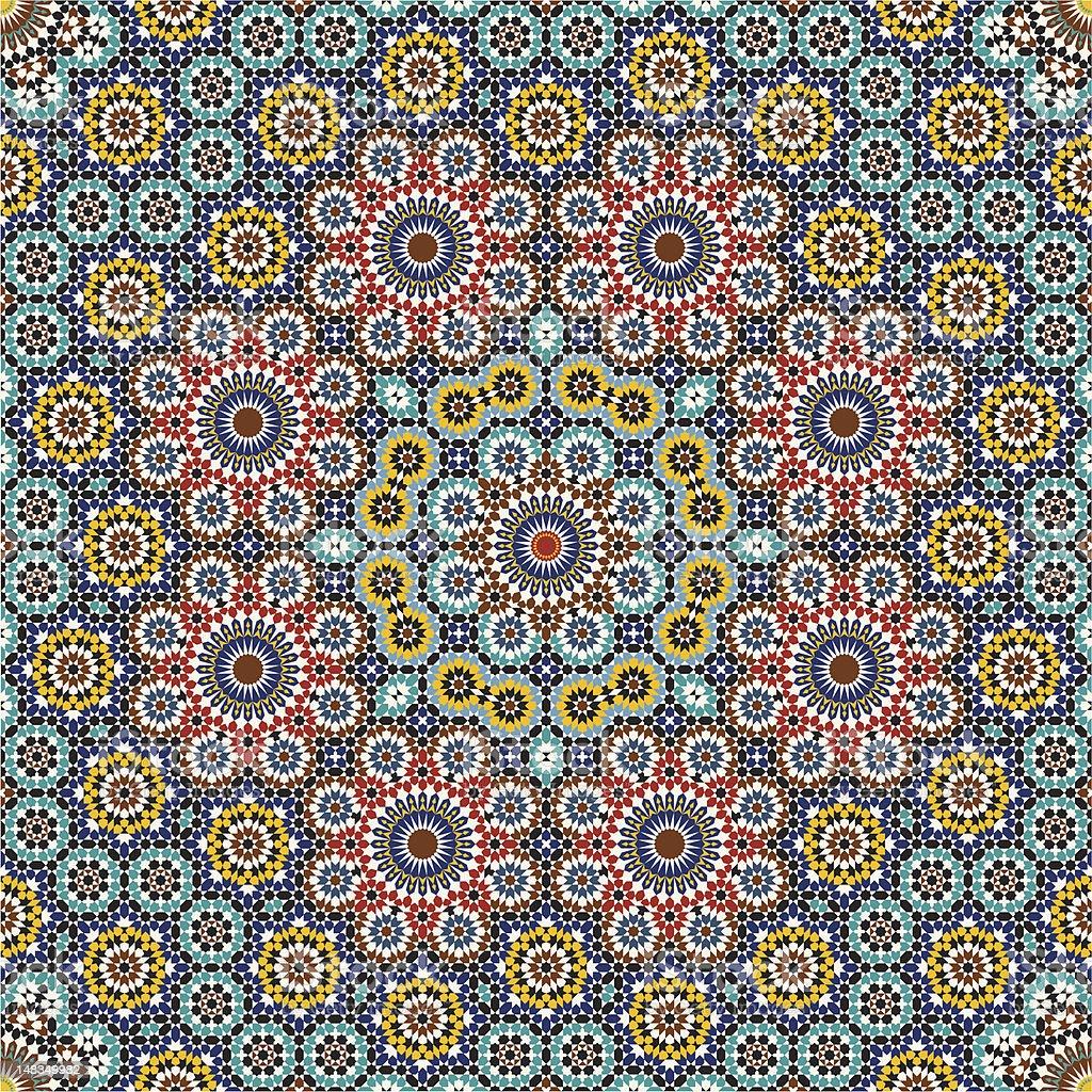 Anvar Complex Seamless Pattern royalty-free stock vector art