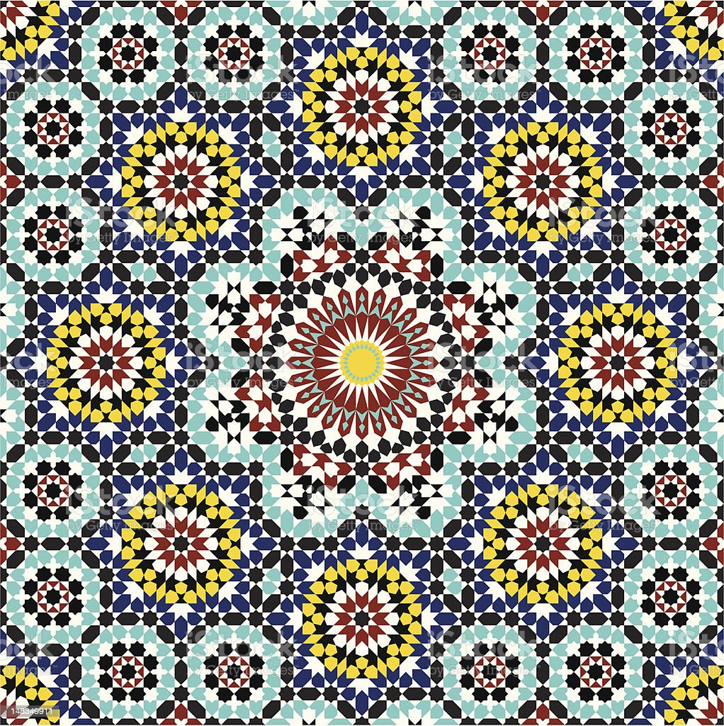 Anvar Moorish Pattern royalty-free stock vector art