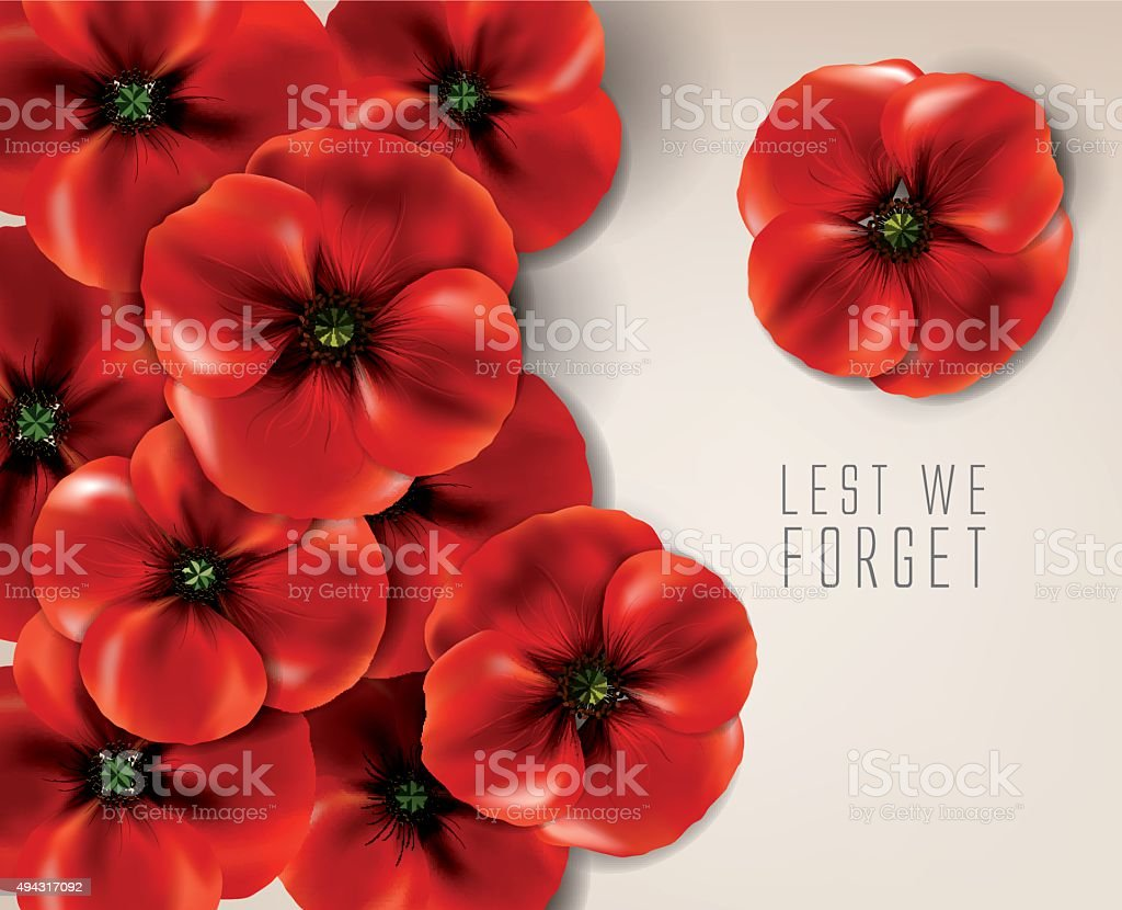 Anzac day - remembrance day vector art illustration