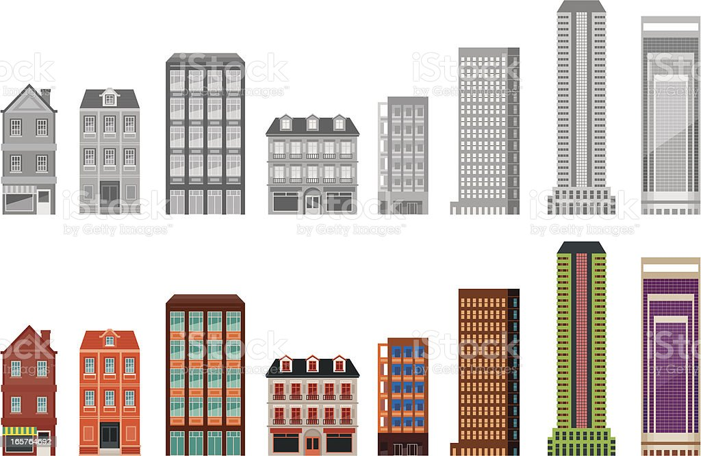 Apartment And Office Building Stock Vector Art Istock