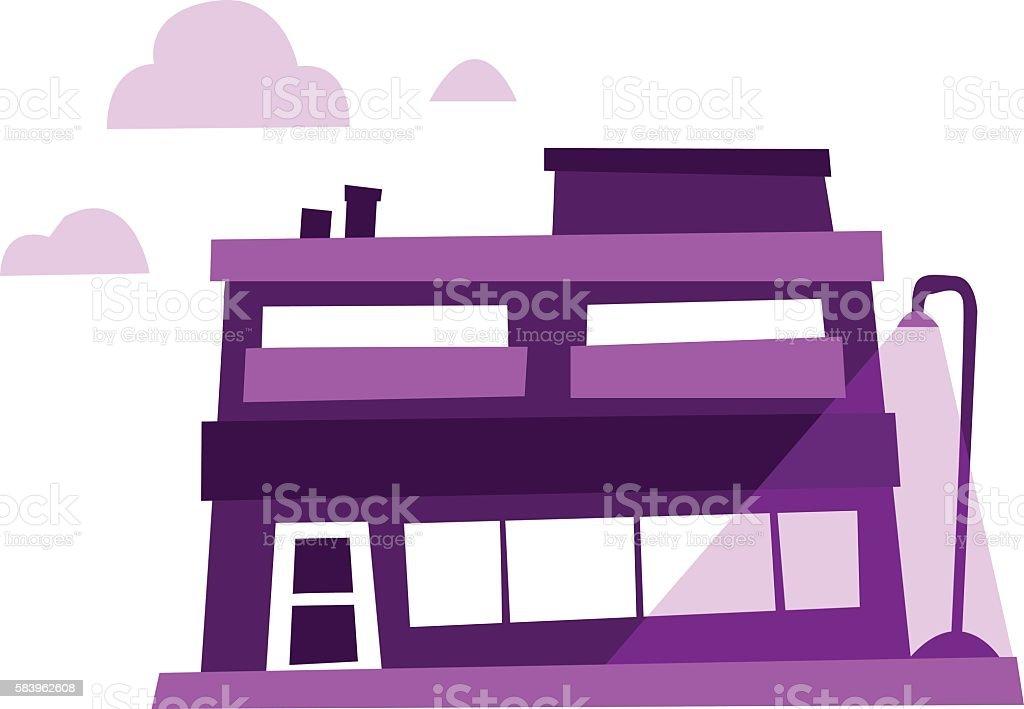 Apartment Buiding vector art illustration
