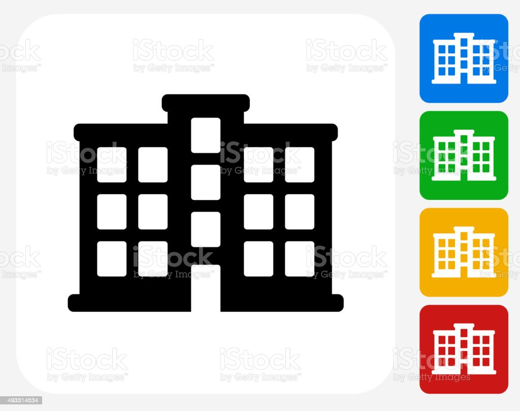 Apartment Building Icon Flat Graphic Design Stock Vector Art