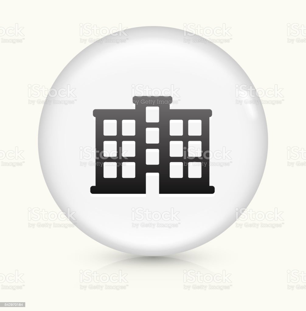 Apartment Building icon on white round vector button vector art illustration