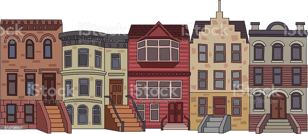 Apartment Building Illustration stock vector art 513706557 | iStock