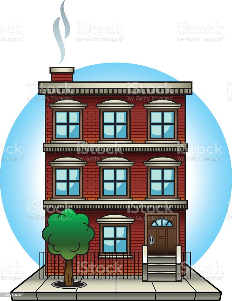 Apartment building illustration apartment building stock for Apartment building drawing
