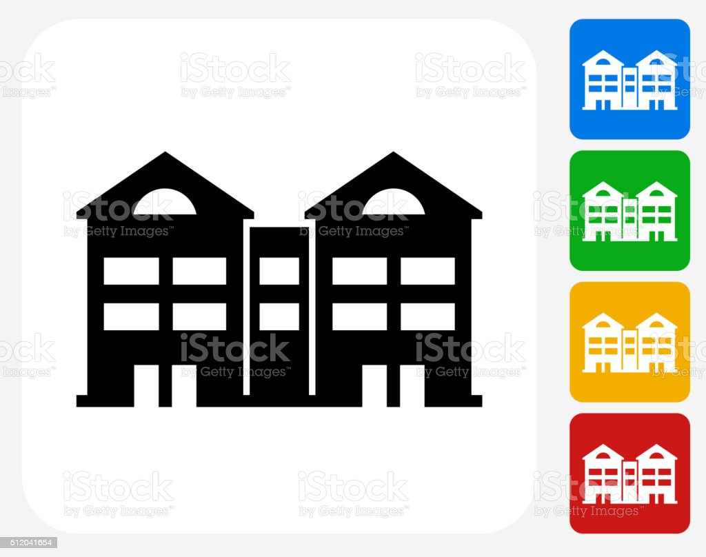 Apartment Building Graphic multifamily apartments clip art, vector images & illustrations
