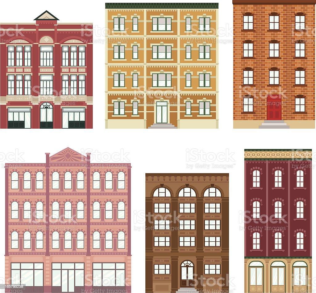 Apartment buildings royalty-free stock vector art