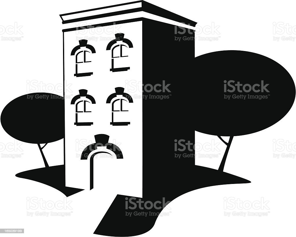Apartment Complex royalty-free stock vector art