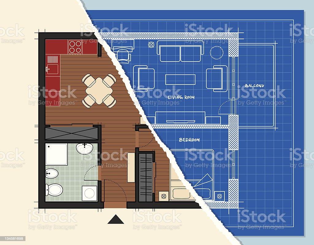 Apartment Design royalty-free stock vector art