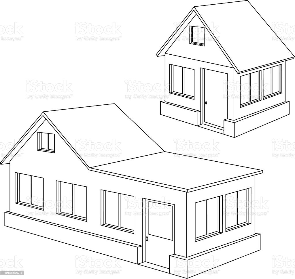 Apartment house contour. royalty-free stock vector art