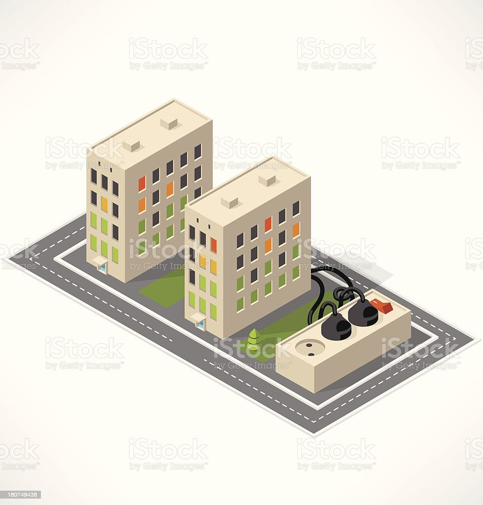 Apartment. Isometric building. royalty-free stock vector art