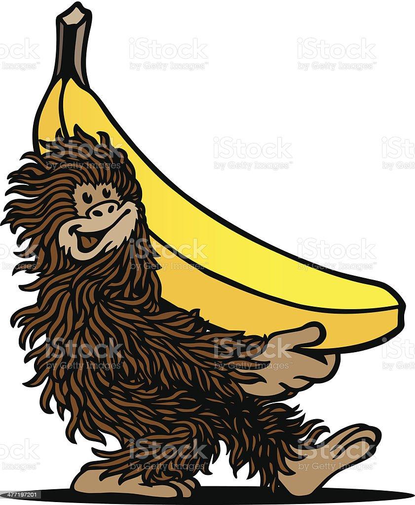 Ape & Banana royalty-free stock vector art