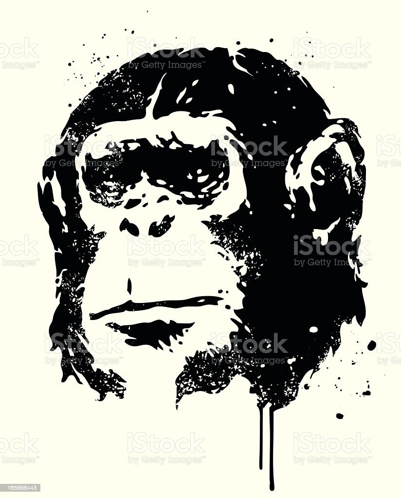 Ape royalty-free stock vector art