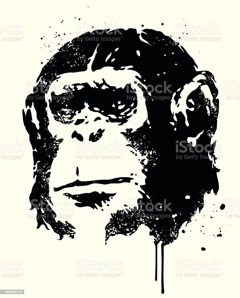 Ape vector art illustration