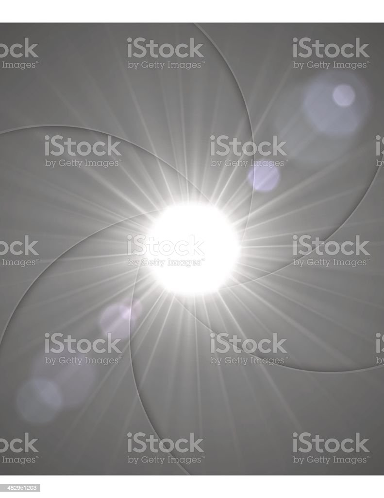 Aperture Light royalty-free stock vector art
