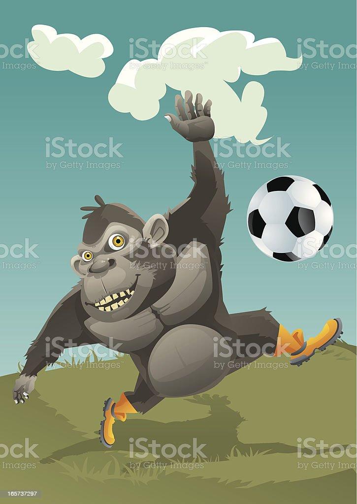 Ape's Football royalty-free stock vector art