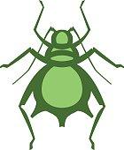 aphid pest vector illustration