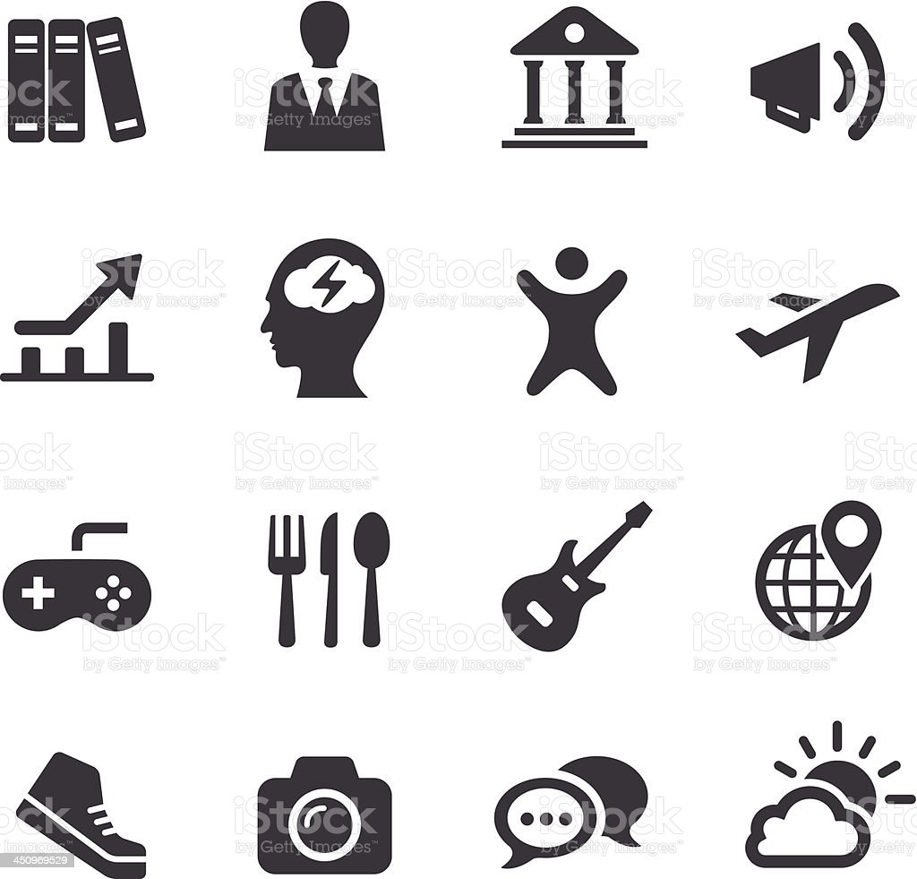 App and software categories Icons - Acme Series vector art illustration