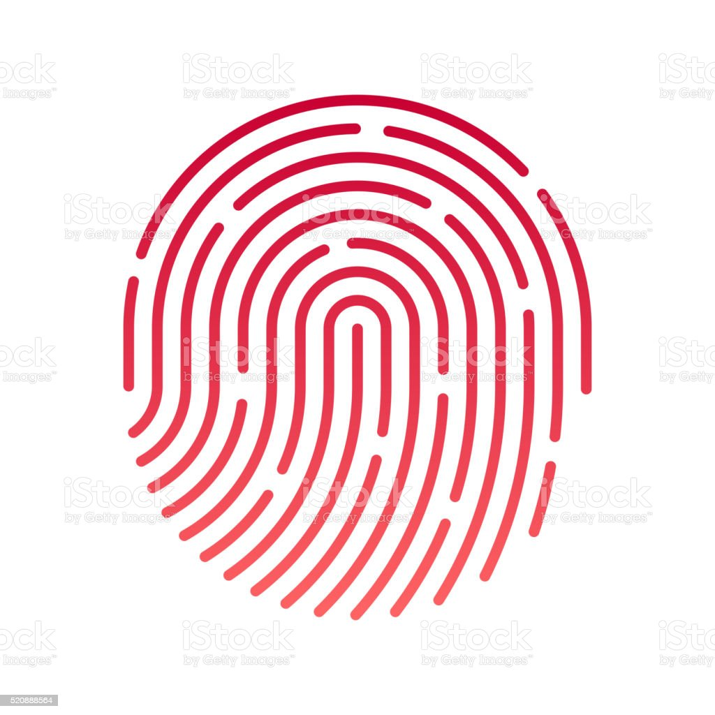 ID app icon. Fingerprint vector art illustration