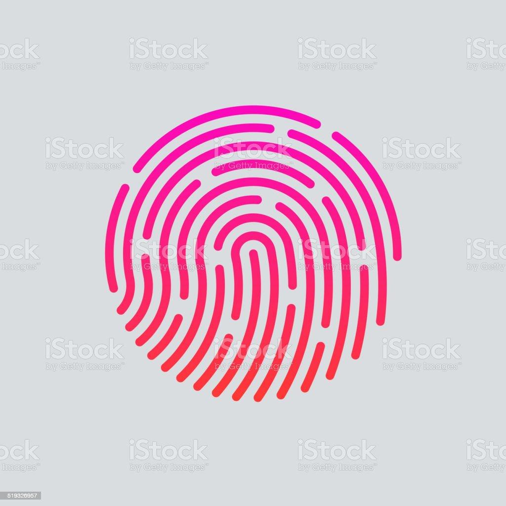 ID app icon. Fingerprint vector illustration vector art illustration