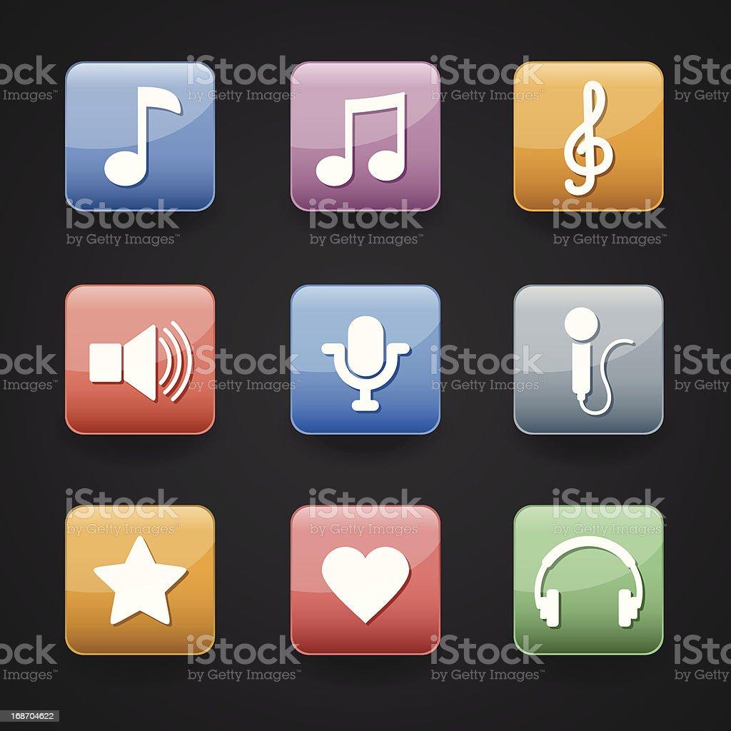 App Icon music royalty-free stock vector art
