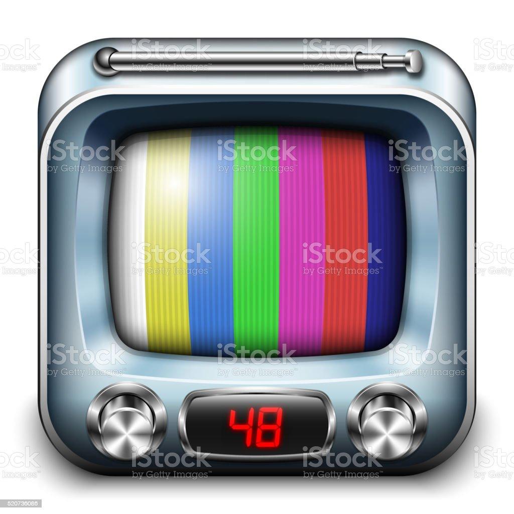 TV App icon, vector vector art illustration