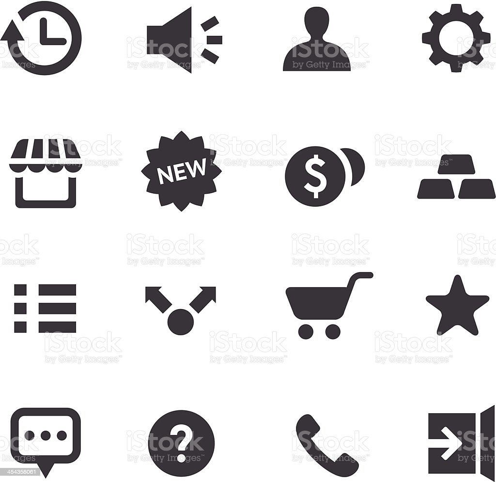 App Icons - Acme Series royalty-free stock vector art